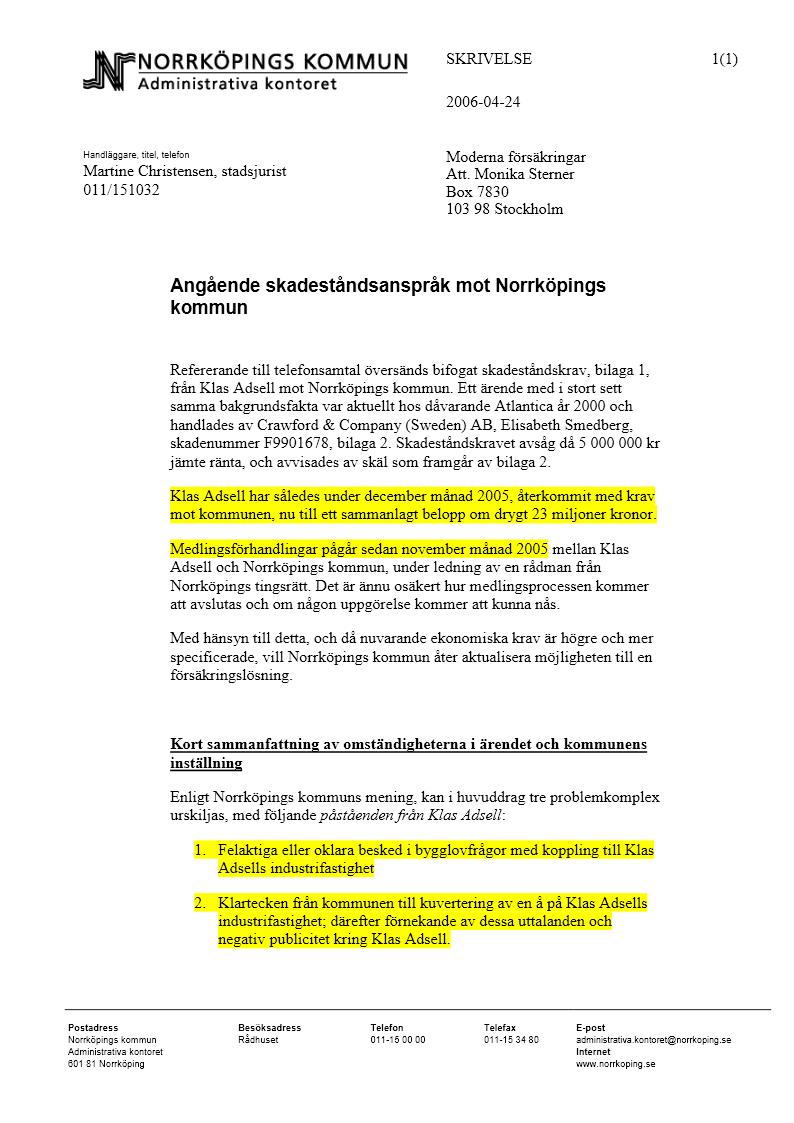 norrköpings kommun mail